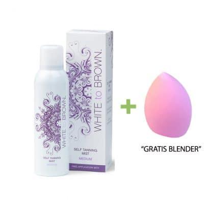white to brown mist spray + gratis beauty blender