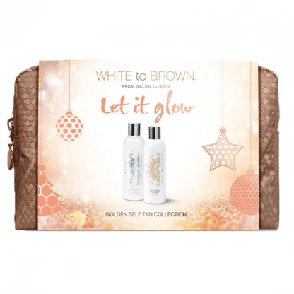 white to brown let it glow tanning set