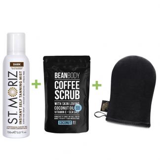 St moriz dark spray-scrub-mitt