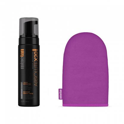 Minetan absolute X20 Ultra Dark + tanning handschoen