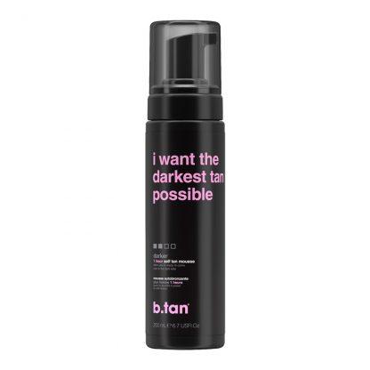 b.tan i want the darkest possible self tanning foam
