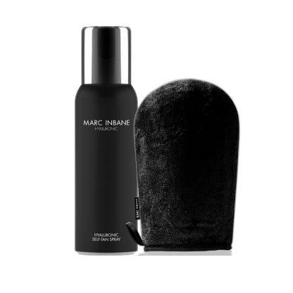 hyaluronic spray tan en marc inbane handschoen