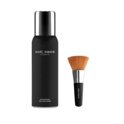 marc inbane hyaluronic tan spray en kabuki brush
